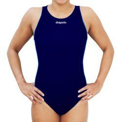 Damen Wasserballanzug-Comfort-navy blau