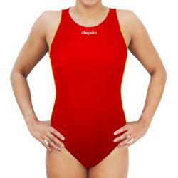 Damen Wasserballanzug-Comfort-rot