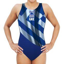 Damen Wasserballanzug - Greece mit breiten Trägern