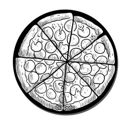 Mausunterlage-Pizza