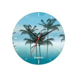 Wanduhr-Palm Trees