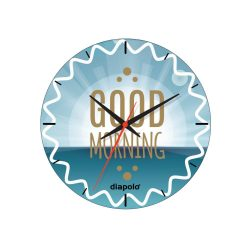 Wanduhr-Good Morning