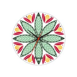 Wanduhr - Geometric Flower