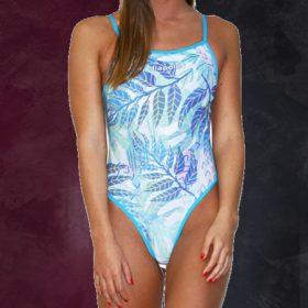 Schwimmanzug mit dünnen Trägern
