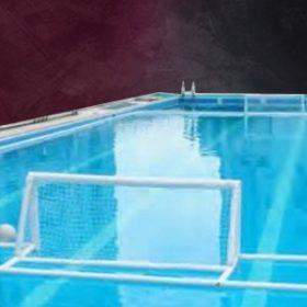Aufblasbares Wasserballfeld